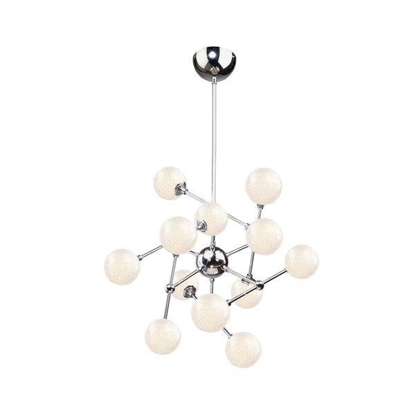 Chandelier à 12 lumières Odyssey AC7572 d'Artcraft Lighting, 26 po x 21 po, chrome poli