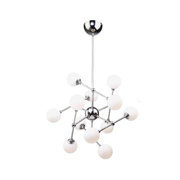 Artcraft Lighting Luna AC7562 12-Light Chandelier - 26-in x 21-in - Polished Chrome