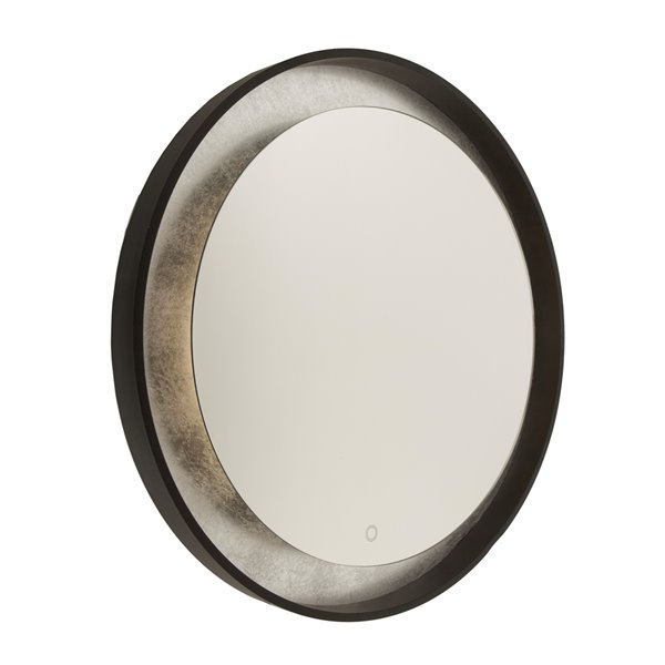 Artcraft Lighting Reflections AM305 LED Mirror - 31.5-in x 31.5-in - Oil Rubbed Bronze & Silver Leaf