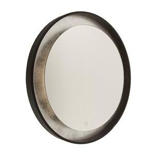 Miroir à éclairage DEL Reflections AM305 d'Artcraft Lighting, 31,5 po x 31,5 po, bronze huilé et argenté