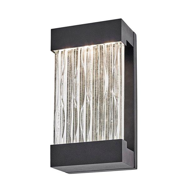 Artcraft Lighting Watercrest AC9161BK Outdoor Wall Light - 6.5-in x 3.75-in x 12-in - Black