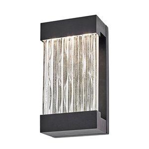 Luminaire mural extérieur Watercrest AC9161BK d'Artcraft Lighting, 6.5 po x 3.75 po x 12 po, noir