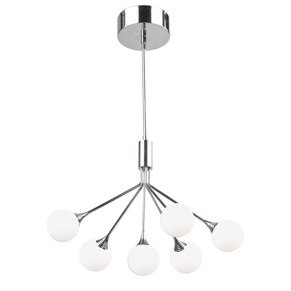 Artcraft Lighting Luna AC7566 6-Light Chandelier - 19-in x 16-in - Polished Chrome
