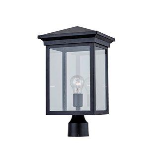 Luminaire extérieur pour poteau Gable AC8463BK d'Artcraft Lighting, 1 lumière, 17,50 po, noir mat