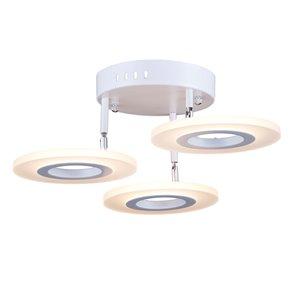 Semi-plafonnier Pheonix AC7068 d'Artcraft Lighting, 3 lumières, blanc