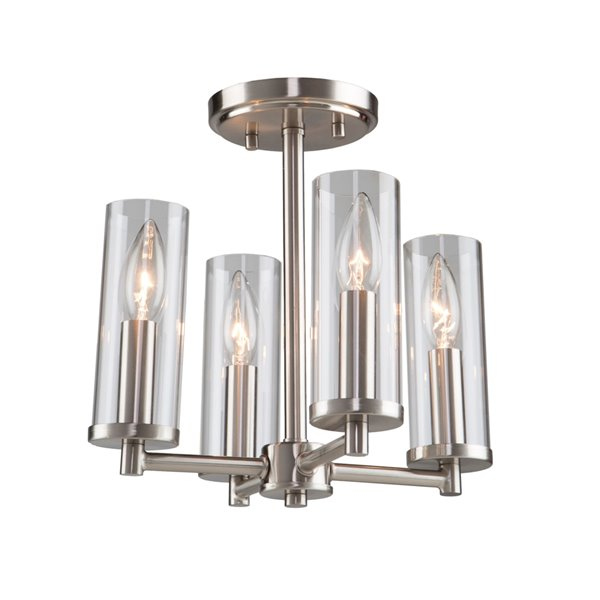 Artcraft Lighting Vissini AC11472 Semi-Flush Mount Light - 4-Light - Polished Nickel