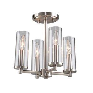 Semi-plafonnier Vissini AC11472 d'Artcraft Lighting, 4 lumières, nickel poli
