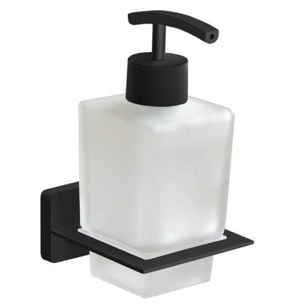 Nameeks General Hotel Wall Mounted Soap Dispenser in Black - 14 oz - 3.8-in x 3.2-in