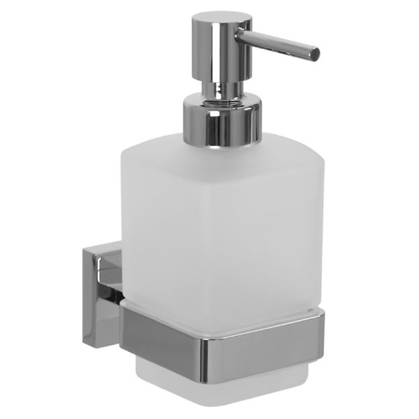 Nameeks Boutique Hotel Wall Mounted Soap Dispenser in Chrome - 14 oz - 6.2-in x 2.8-in