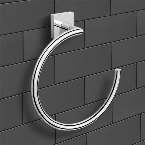 Nameeks Nice Hotel Wall Mounted Towel Rings in Chrome
