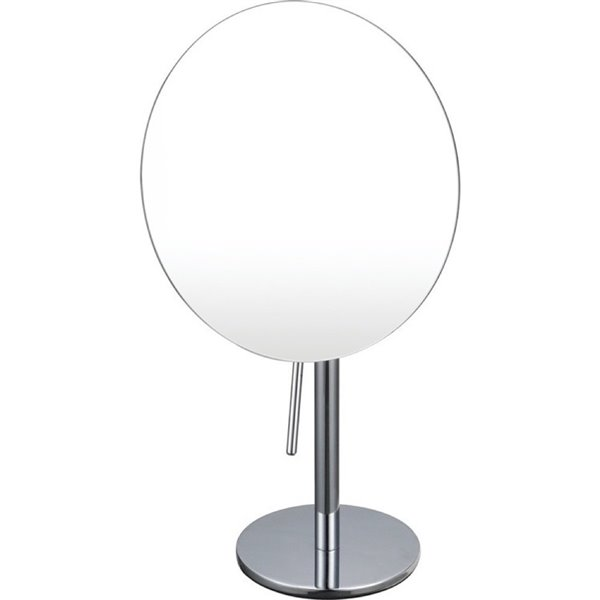 Nameeks Glimmer Free Standing Makeup Mirrors In Chrome - 3.9-in x 8-in x 8-in