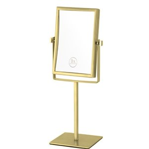 Nameeks Glimmer Free Standing Makeup Mirrors In Gold - 4.5-in x 8.25-in x 6.3-in