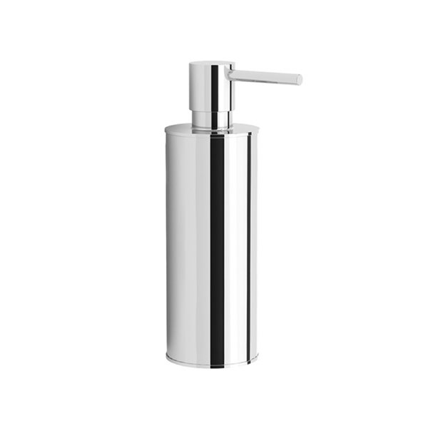 Nameeks Boutique Hotel Free Standing Soap Dispenser in Chrome - 14 oz - 6.42-in x 1.97-in