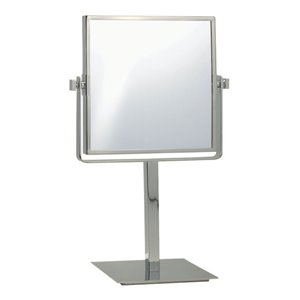 Nameeks Glimmer Free Standing Makeup Mirrors In Satin Nickel - 3.97-in x 8-in x 8-in