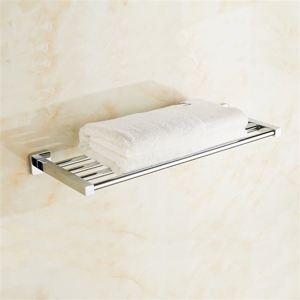 Nameeks General Hotel Wall Mounted Train Racks for Towels in Polished Chrome - 25-in x 8.8-in