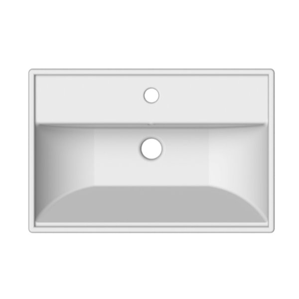 Nameeks ML Wall Mounted Bathroom Sink In White - Square - 23.6-in x 15.7-in