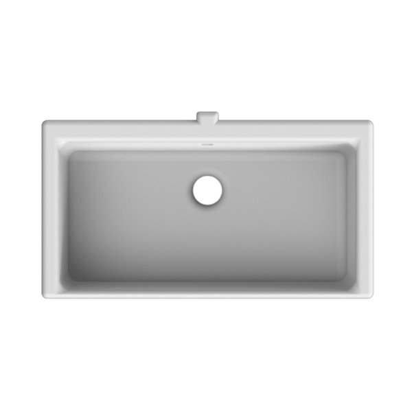 Nameeks Miky Undermount Bathroom Sink In White - Rectangular - 18.2-in x 12.4-in