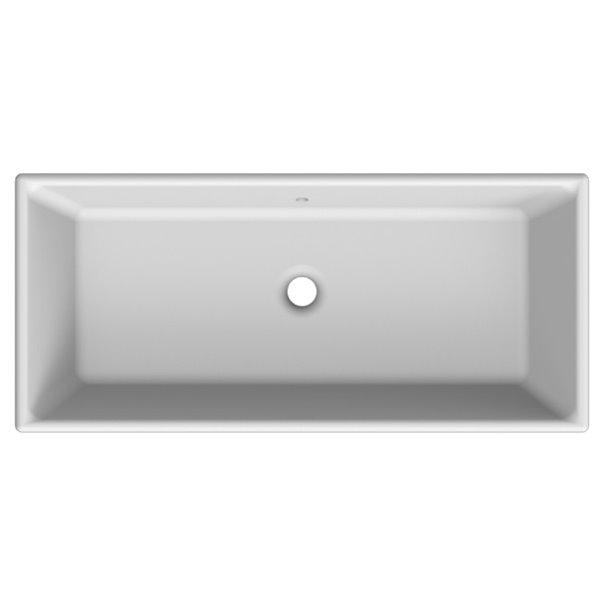 Nameeks Gaia Vessel Bathroom Sink In White - Square - 34.5-in x 15.6-in