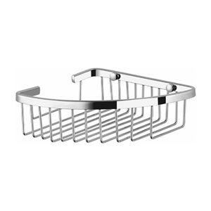 Nameeks General Hotel Wall Mounted Shower Basket in Chrome - 7-in x 2-in x 8-in