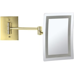 Nameeks Glimmer Wall Mounted Makeup Mirrors In Gold - 4.5-in x 8.7-in x 6.3-in