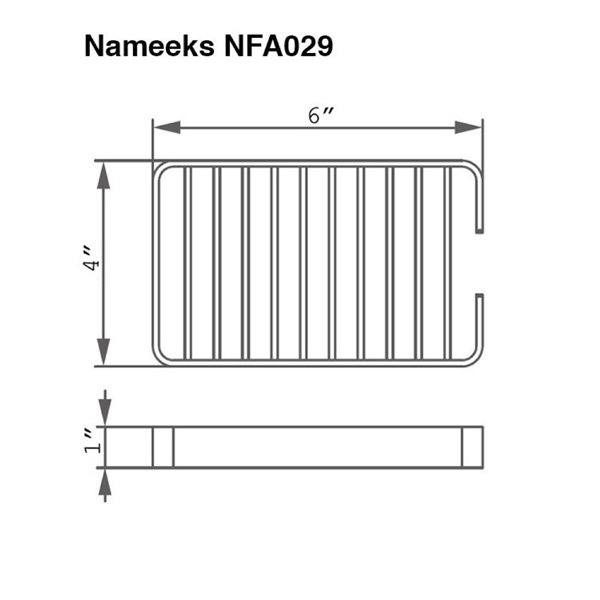 Nameeks General Hotel Wall Mounted Shower Basket in Chrome - 4-in x 1-in x 6-in