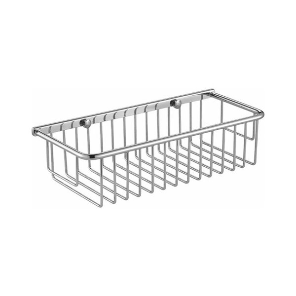 Nameeks General Hotel Wall Mounted Shower Basket in Chrome - 5-in x 3-in x 12-in