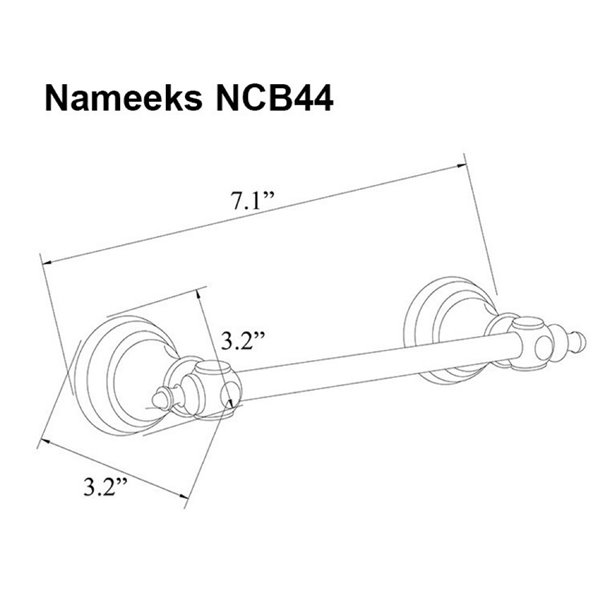 Nameeks Classic Hotel Wall Mounted Toilet Paper Holder In Chrome - 7.1-in x 3.2-in x 3.2-in