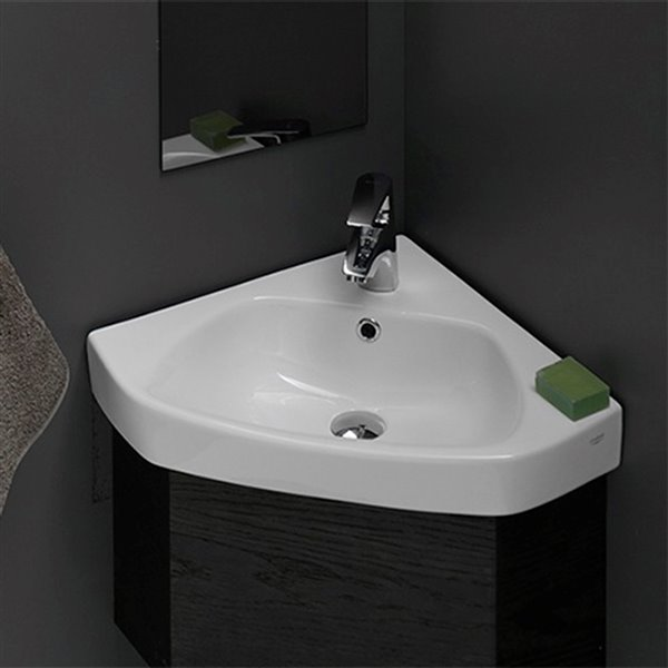 Nameeks Arda Wall Mounted Bathroom Sink in White - 25.3-in x 18.5-in