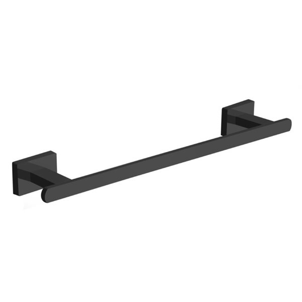 Nameeks General Hotel Wall Mounted Towel Bar In Black - 12-in