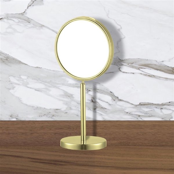 Nameeks Glimmer Free Standing Makeup Mirrors In Gold - 4-in x 8-in x 8-in