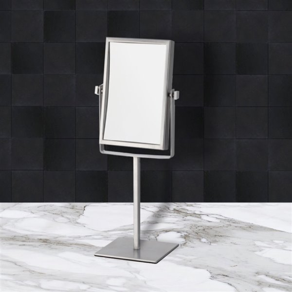 Nameeks Glimmer Free Standing Makeup Mirrors In Chrome - 4.5-in x 8.25-in x 6.3-in