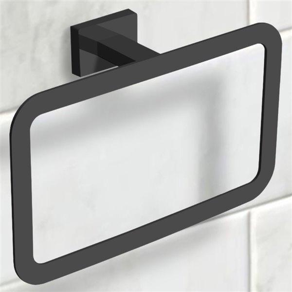 Nameeks General Hotel Wall Mounted Towel Rings in Black