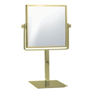 Nameeks Glimmer Free Standing Makeup Mirrors In Gold - 3.97-in x 8-in x 8-in