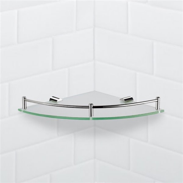 Nameeks General Hotel Wall Mounted Bathroom Shelve in Chrome - 10-in x 2-in x 10-in