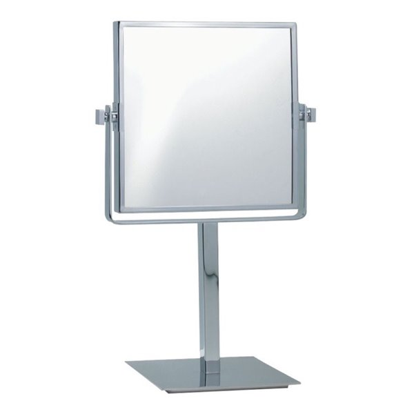 Nameeks Glimmer Free Standing Makeup Mirrors In Chrome - 3.97-in x 8-in x 8-in