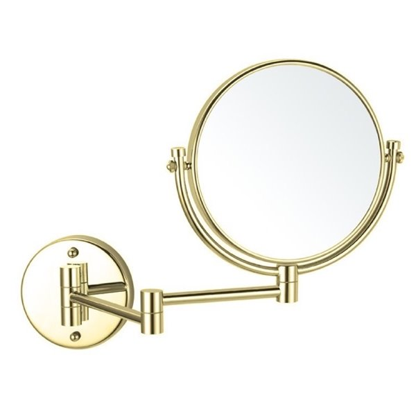 Nameeks Glimmer Wall Mounted Makeup Mirrors In Gold - 4.5-in x 8-in x 8-in