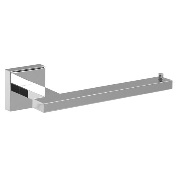 Nameeks Modern Hotel Wall Mounted Toilet Paper Holder In Chrome - 3.2-in x 1.8-in x 6.7-in