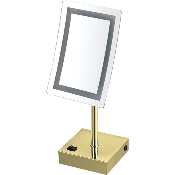 Nameeks Glimmer Free Standing Makeup Mirrors In Gold - 4.33-in x 8.7-in x 6.3-in