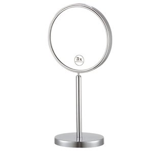 Nameeks Glimmer Free Standing Makeup Mirrors In Chrome - 4-in x 8-in x 8-in