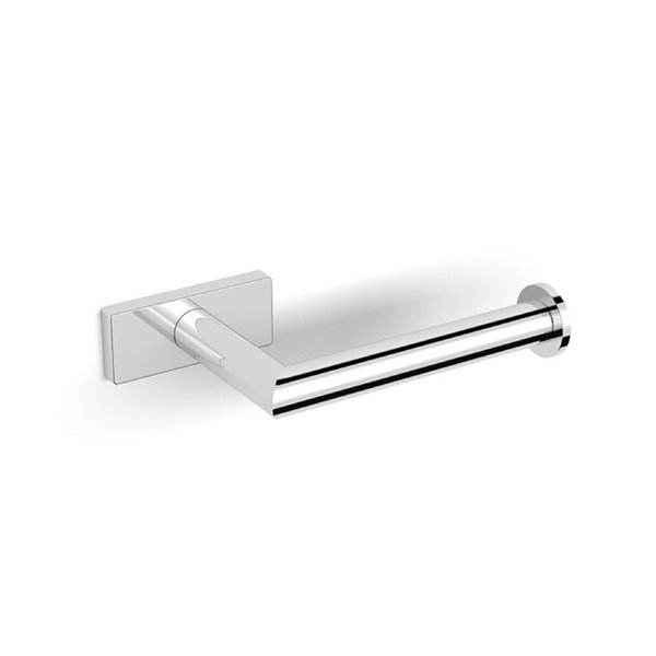 Nameeks Boutique Hotel Wall Mounted Toilet Paper Holder In Chrome - 3.58-in x 1.18-in x 6.3-in