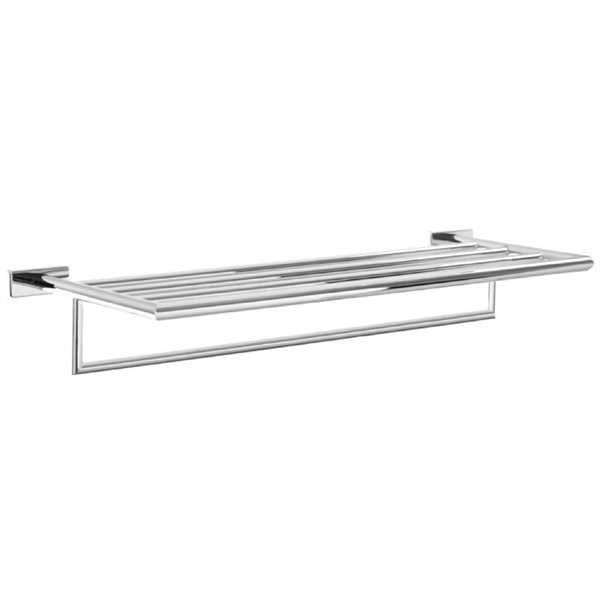 Nameeks Boutique Hotel Wall Mounted Train Racks for Towels in Chrome - 26.46-in x 10.24-in