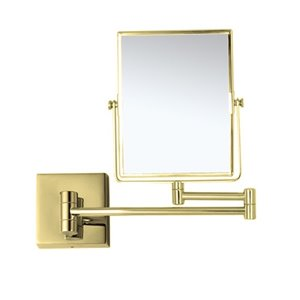 Nameeks Glimmer Wall Mounted Makeup Mirrors In Gold - 4.5-in x 8-in x 6.3-in