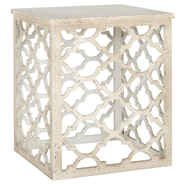 Safavieh Lonny End Table in Distressed White