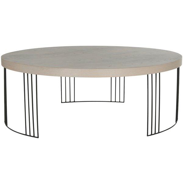 Safavieh Keelin Midcentury Scandinavian Wood Coffee Table -  37.4-in Diameter