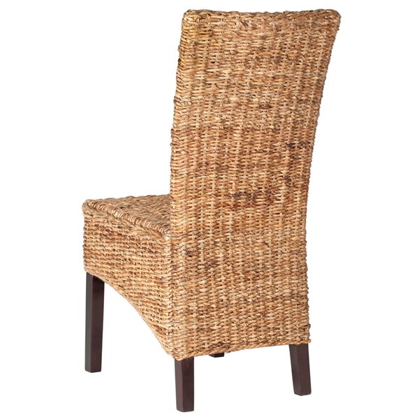 Safavieh Kiska 18-in H Rattan Side Chair  - Dark Brown Seat and Finish (Set Of 2)