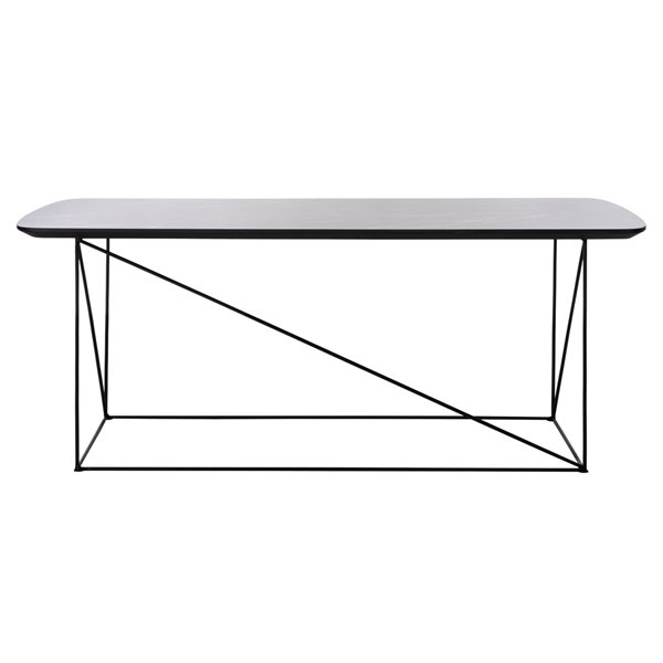 Safavieh Rylee Rectangular Dark Grey and Black Wood Coffee Table