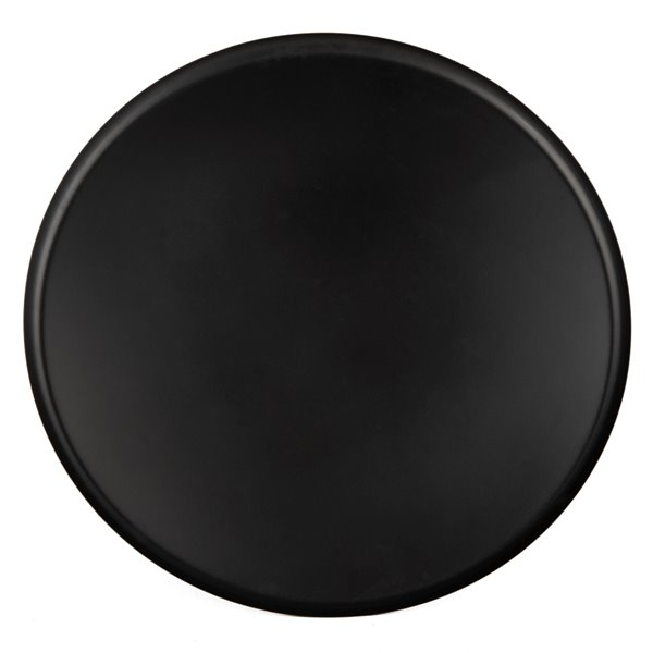 Safavieh Orson Round Black Coffee Table with Gold Capped Legs
