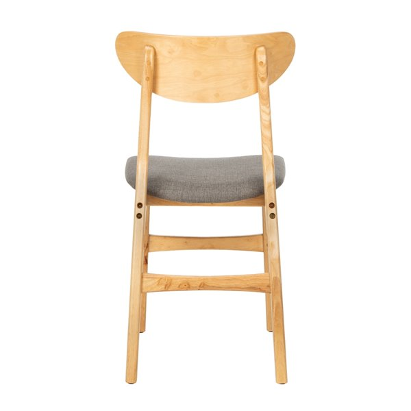 Safavieh Lucca Retro Dining Chair  - Natural Seat and Finish (Set Of 2)
