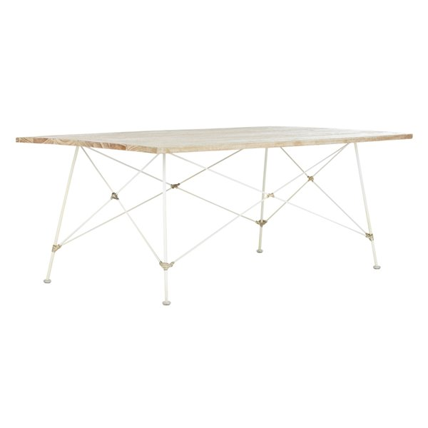 Safavieh Cyprus Rectangular Wood Coffee Table - Whitewash