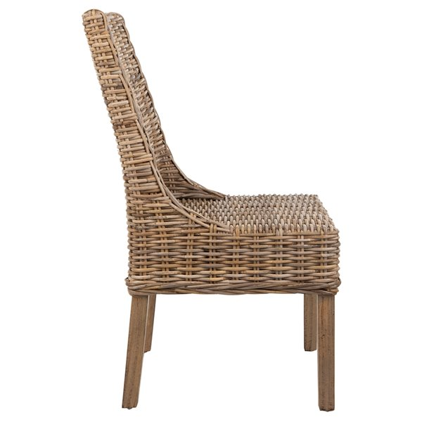 Safavieh Suncoast 18-in H Rattan Arm Chair  - Natural Seat and Finish (Set Of 2)
